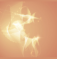 Abstract light orange polygonal mesh vector