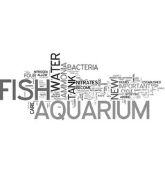 Aquarium care for freshwater fish text word cloud vector