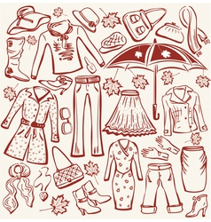 autumn clothes vector image vector image
