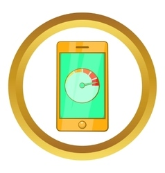 Battery indicator on phone icon vector