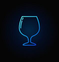 Brandy or cognac glass icon vector