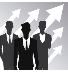 Business people teamwork growth arrow vector
