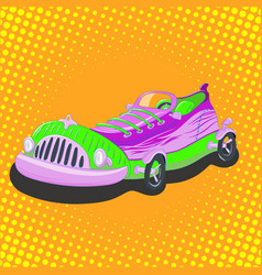 cartoon sneaker car vector image