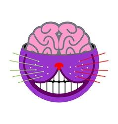 Cheshire cat fantastic pet magic of animal tales vector