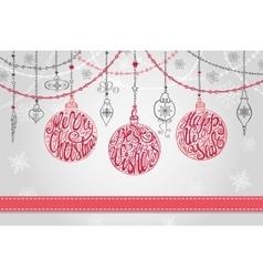 Christmas ballgarlandsNew year greeting card vector image vector image