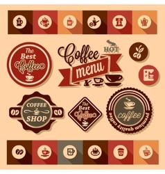Coffee design stickers vector