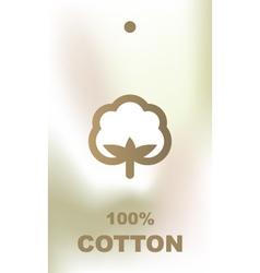 Cotton tag vector