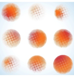 Creative abstract art circles design EPS 8 vector image