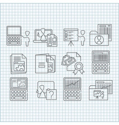 Education and web developing icons set vector