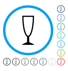 empty wine glass rounded icon vector image vector image