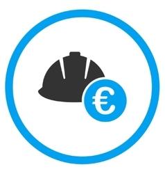 Euro development cost icon vector