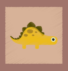 Flat shading style icon cartoon dinosaur vector