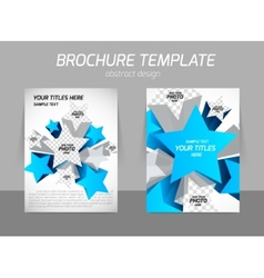 Flyer template with star vector