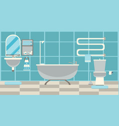 Modern bathroom interior with furniture vector