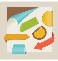 new items with retro colors vector image