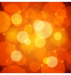 Orange bokeh effect abstract background vector image vector image