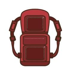 Packback travel bag tourist vacations vector