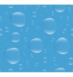 Realistic water bubbles seamless pattern endless vector image