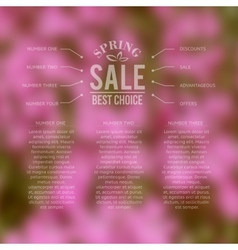 Spring sale best choice lettering vector image vector image
