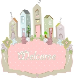 sweet home card design vector image