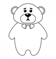 teddy bear a tilde contours vector image vector image