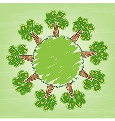 Think Green Ecology Concept and Eco system vector image