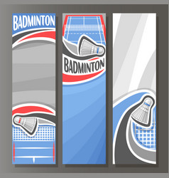 Vertical banners for badminton vector
