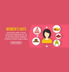 women hats banner horizontal concept vector image