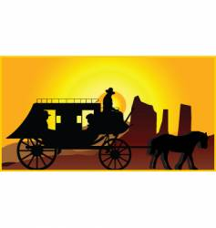 stagecoach vector image