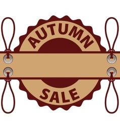 Autumn discounts and sale vector