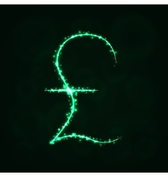 Pound sign silhouette of lights vector