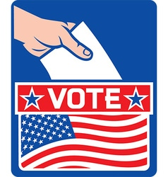 USA Vote Poster Design vector image