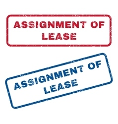 Assignment of lease rubber stamps vector