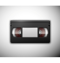 Isolated videotape vector image