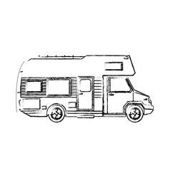 Truck Camper Home Travel Transport Image Vector