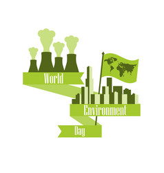 world environment day 5th june environmental vector image