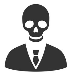 Deadly manager icon vector