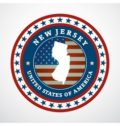 Vintage label new jersey vector