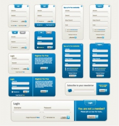 website design elements vector image