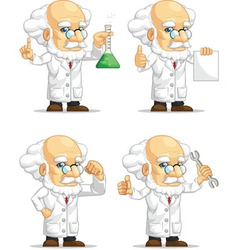 Scientist or professor customizable mascot 2 vector