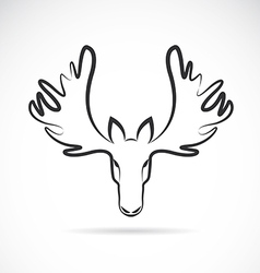Images of moose deer head vector