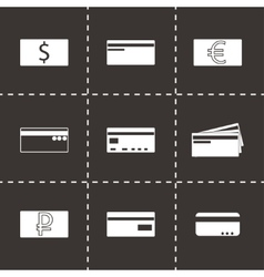 Credit card icons set vector