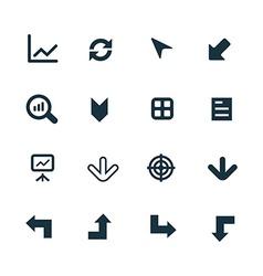 diagram icons set vector image