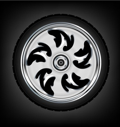 wheel and tyre vector image