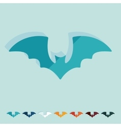 Flat design bat vector