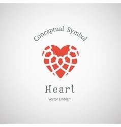 Ornamental Heart Logo vector image