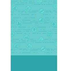 Background with business icons vector