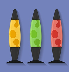 Icon of lava lamp flat style vector