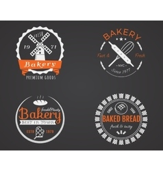Set of bakery labels icons badges and design vector