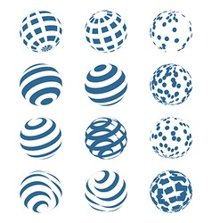 Abstract Sphere Logo Set vector image